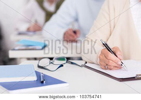 Senior Students During Written Exam