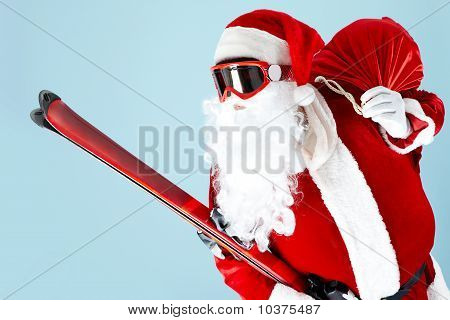 Santa With Skies