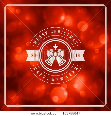 Christmas greeting card lights vector background