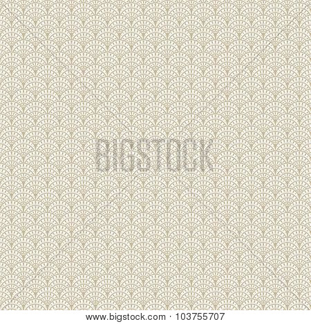 Fish scales beige vector seamless pattern. Luxury Fashion texture background.