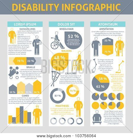 People With Disabilities Infographic Set