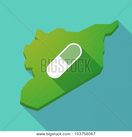 Long Shadow Syria Map With A Pill