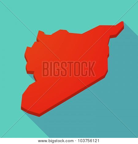 Long Shadow Syria Red Map