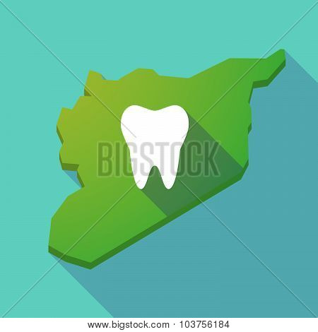 Long Shadow Syria Map With A Tooth