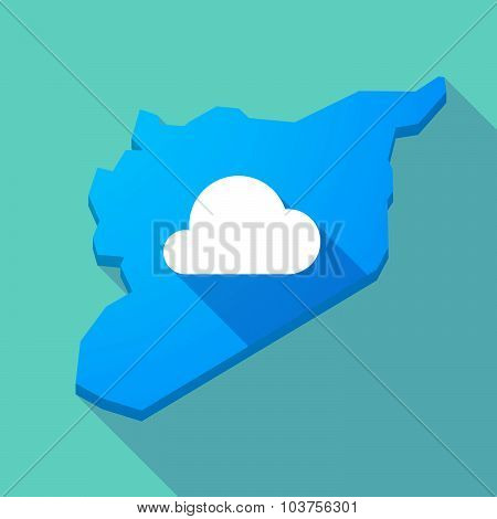 Long Shadow Syria Map With A Cloud
