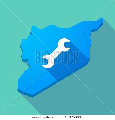 Long Shadow Syria Map With A Wrench