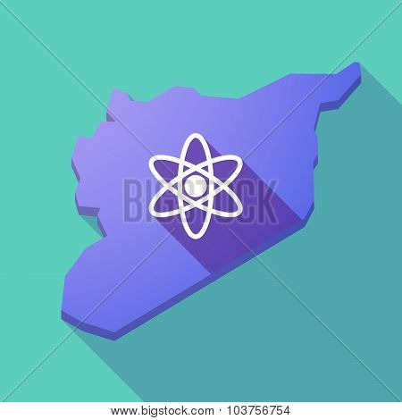 Long Shadow Syria Map With An Atom