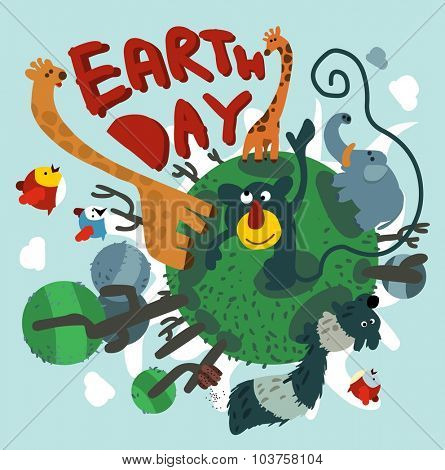 Mother earth day. Vector illustration Flat