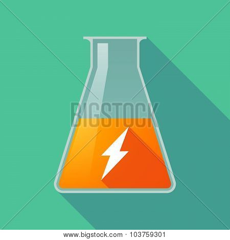 Long Shadow Chemical Test Tube Flask With A Lightning