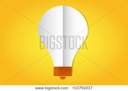 Bulb lamp flat style icon isolated