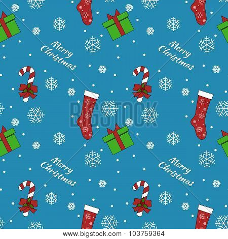 Vector Seamless Christmas pattern.