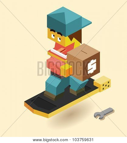 hoverboard Funding Research Needed. Isometric