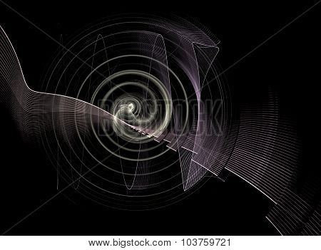 Abstract Fractal Background Black