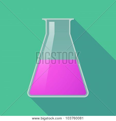 Long Shadow Pink Chemical Test Tube Flask