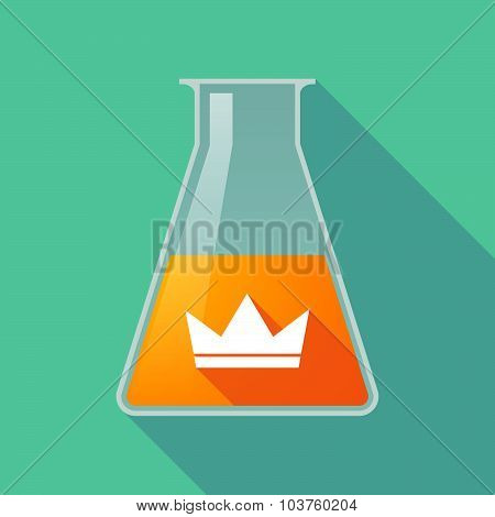 Long Shadow Chemical Test Tube Flask With A Crown
