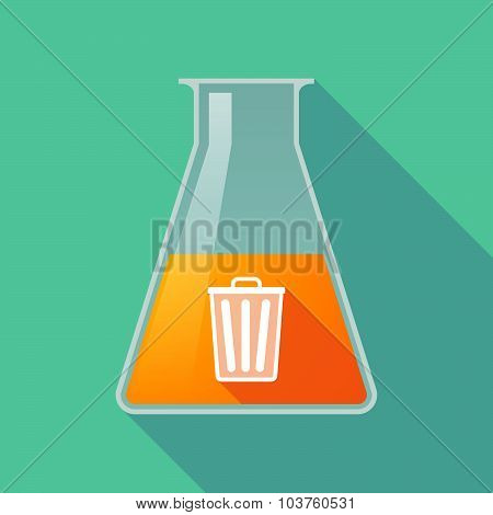 Long Shadow Chemical Test Tube Flask With A Trash Can
