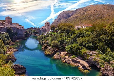Famous Old Bridge In Mostar