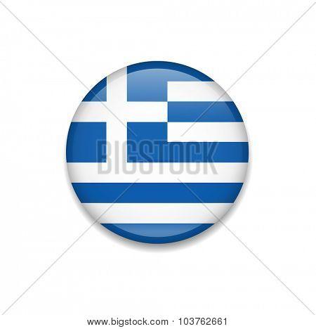 Greece Button Flag