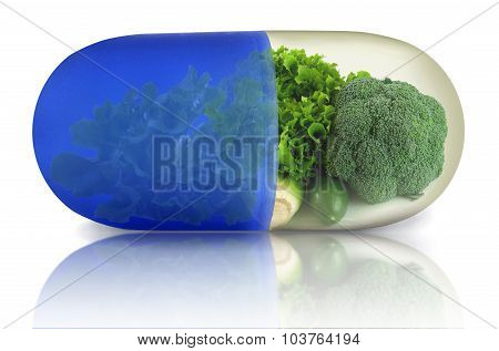 Green Vegetable Vitamin Pill