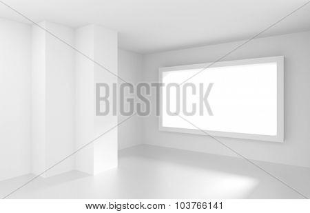 White Empty Room. Modern Interior Background