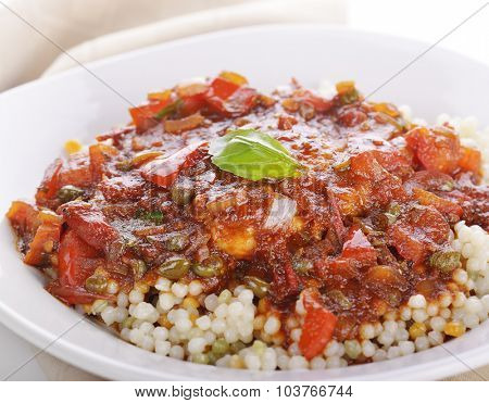 Chicken Cacciatore with Pearl Couscous