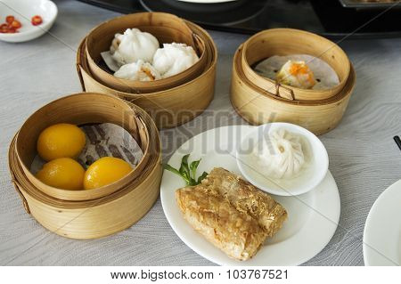 Group Of Stream Dim Sum Chinese Food