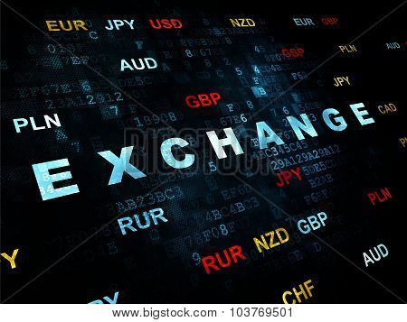 Currency concept: Exchange on Digital background