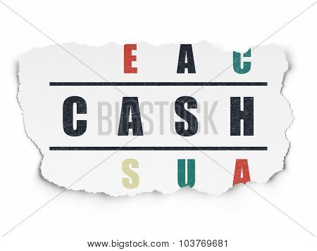 Currency concept: Cash in Crossword Puzzle