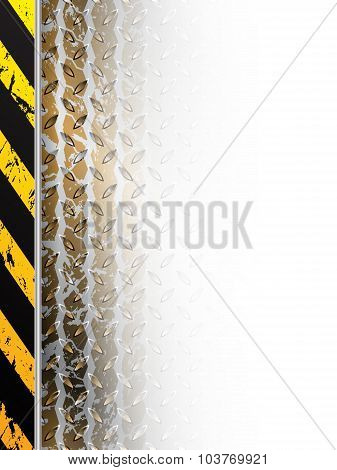 Industrial Design With Tire Track Fading In White Space