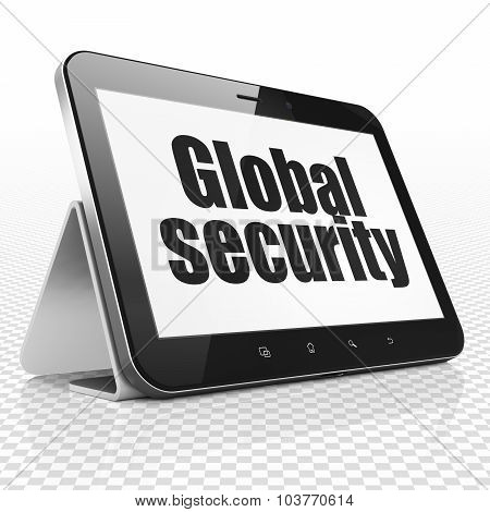 Protection concept: Tablet Computer with Global Security on display
