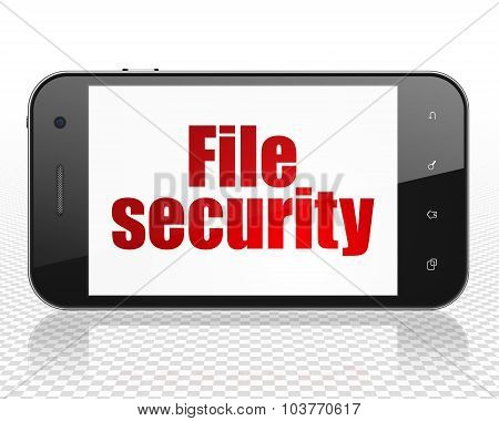 Privacy concept: Smartphone with File Security on display
