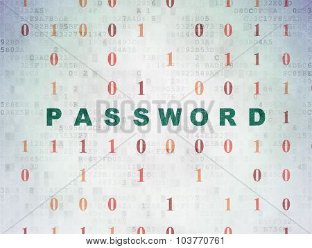 Security concept: Password on Digital Paper background