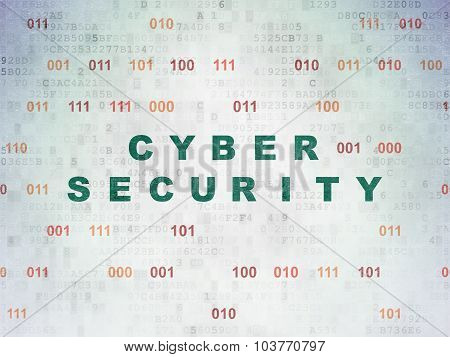 Security concept: Cyber Security on Digital Paper background
