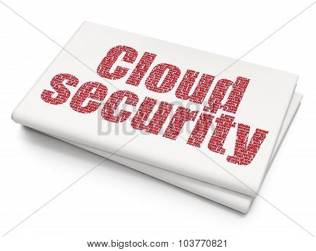 Security concept: Cloud Security on Blank Newspaper background