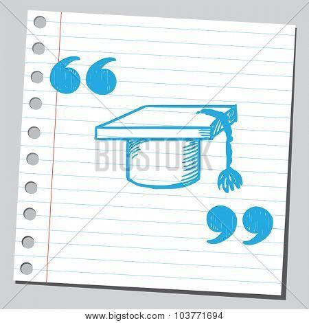 Graduation cap in speech quotes