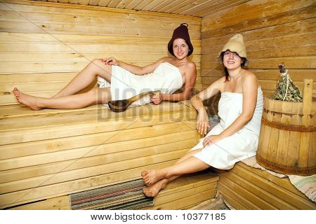 Girls  In Sauna