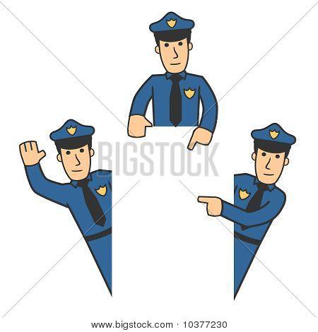 Conjunto de caracteres de la policía