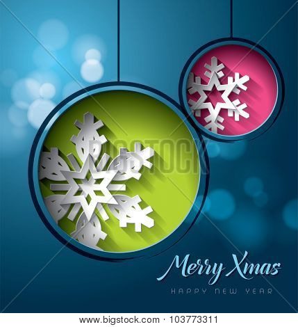 Christmas 2016 holidays vector design