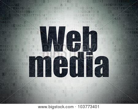 Web design concept: Web Media on Digital Paper background