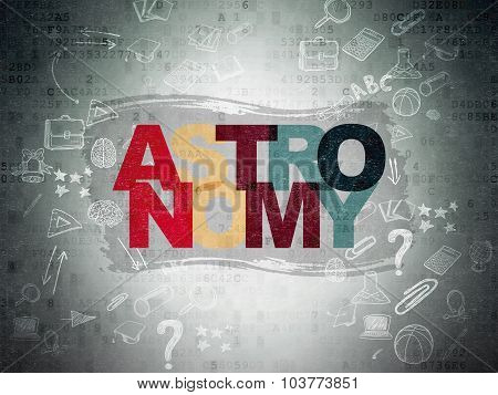 Learning concept: Astronomy on Digital Paper background