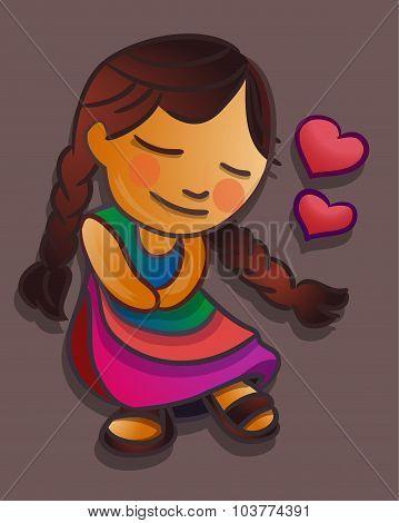 Indigenous Girl In Love