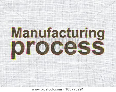 Industry concept: Manufacturing Process on fabric texture background