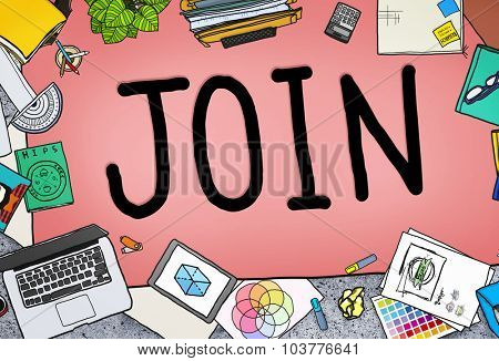 Join Business Service Contact Assistance Concept