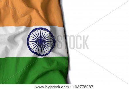 Waving Flag Of India, Asia