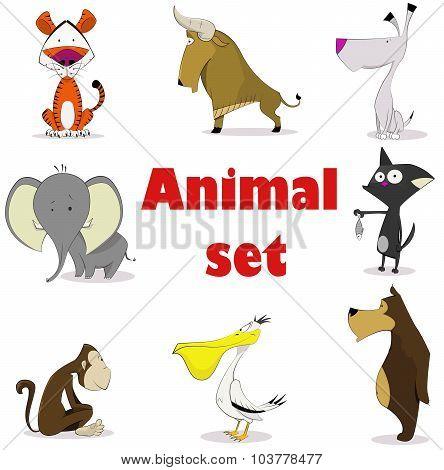 Set of animals.