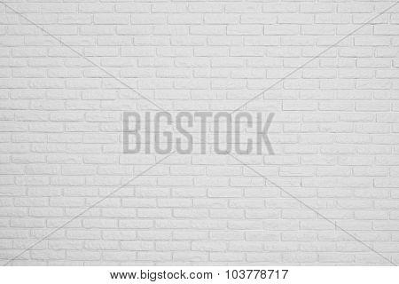 Brick White Blank Wall