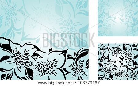 Gorgeous vintage Black & Turquoise background design
