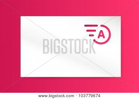 Fast line A letter logo monogram. A and lines monogram. Vector A line letter. A letter design. Abstract A letter. Motion lines. A line symbol. Thin line style. Transport delivery A business card