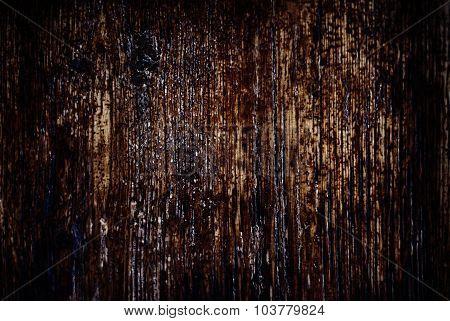 Vintage Texture Of Bark Wood Natural Background, Dark Brown Color