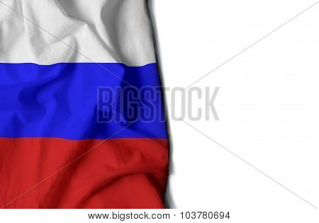 Waving Flag Of Russia, European And Asian Country